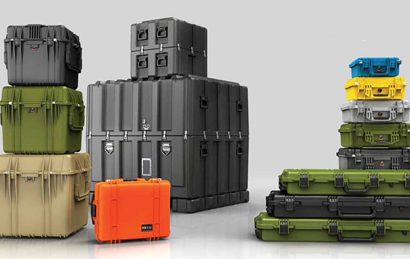 Pelican Cases in various, shapes sizes and color